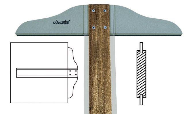 Régua T de Madeira Trident 80cm 5308