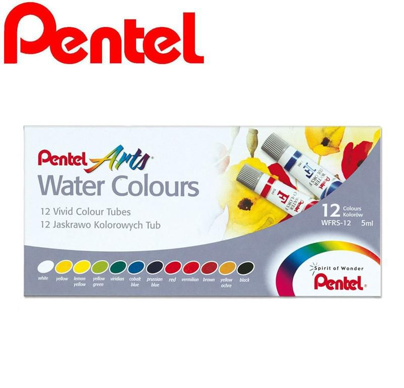 Tinta Aquarela Pentel 12 Cores WFRS-12