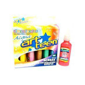 Tinta Dimensional 3D Acqua Acrilex c/ 6 cores 12406