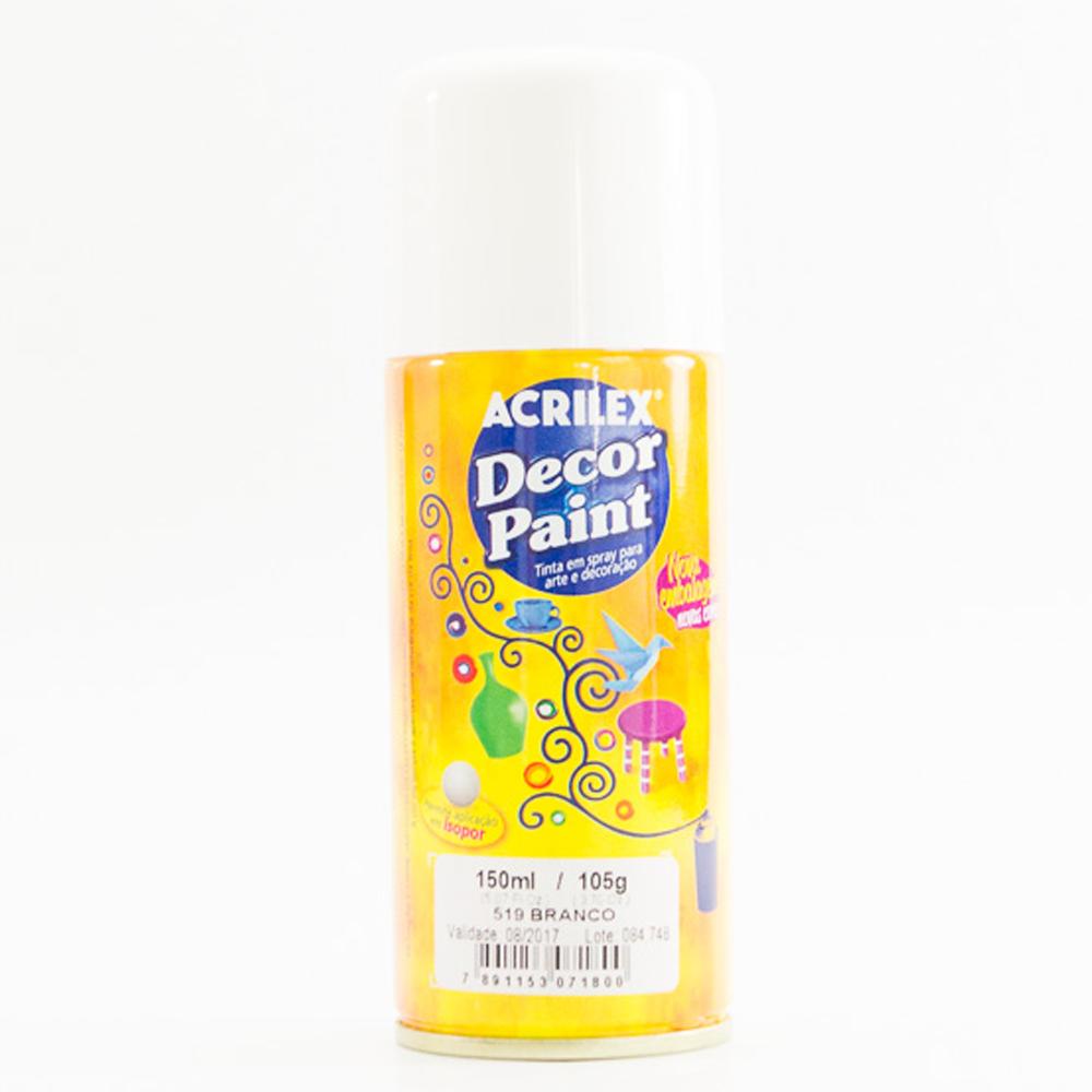 Tinta em Spray Decor Acrilex 150 ml  - Branco