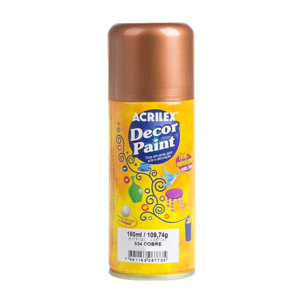 Tinta em Spray Decor Acrilex 150 ml  - Cobre
