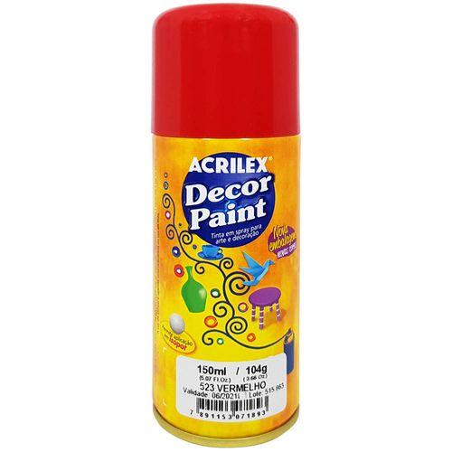 Tinta em Spray Decor Acrilex 150 ml  - Vermelho