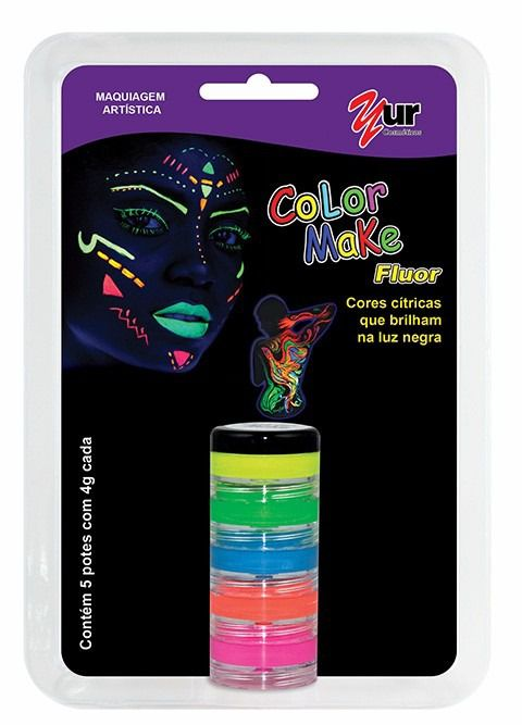 Tinta Facial Color Make Yur Fluor c/ 5 cores