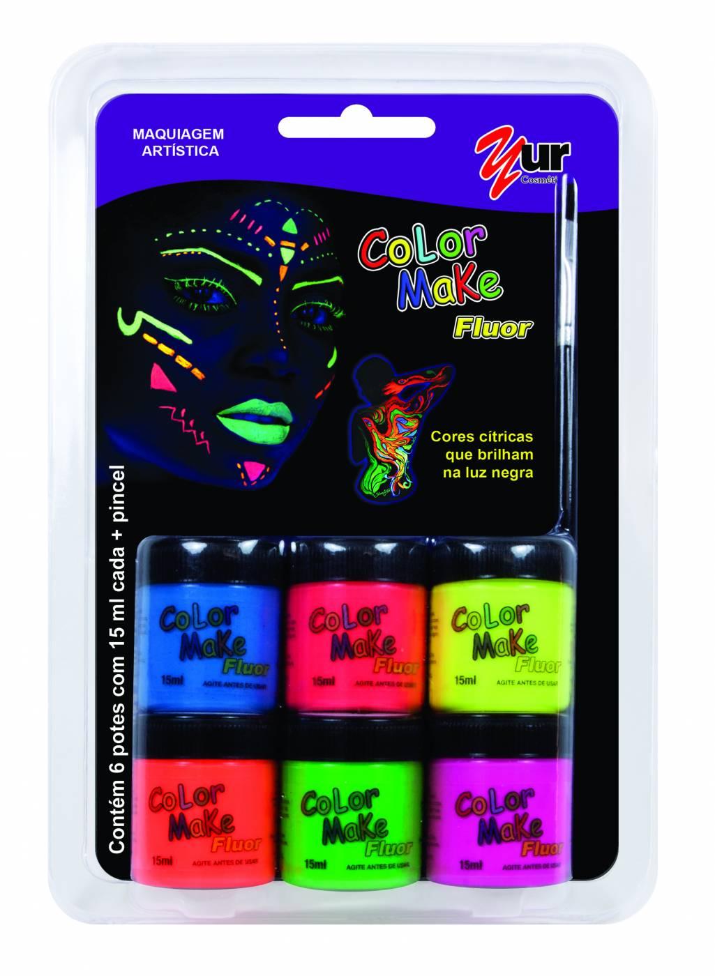 Tinta Facial Color Make Yur Fluor c/ 6 cores