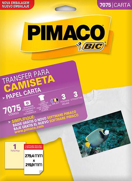 Transfer Para Camiseta Pimaco 7075 - 279,4 mm x 215,9 mm