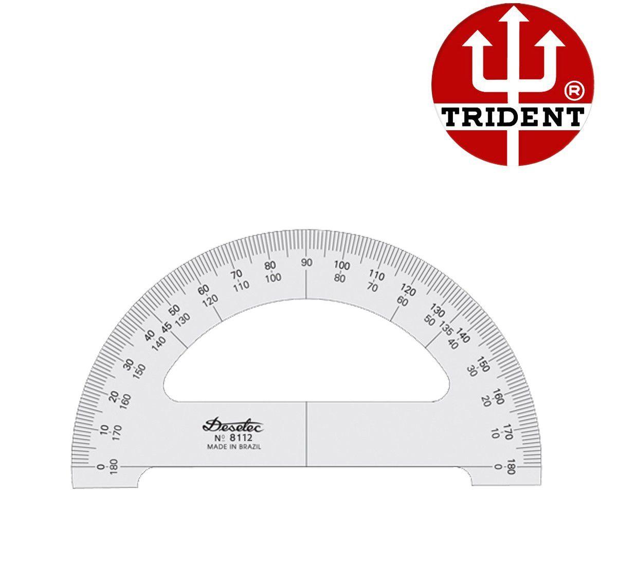 Transferidor de Acrílico Trident 180°/12 cm 8112
