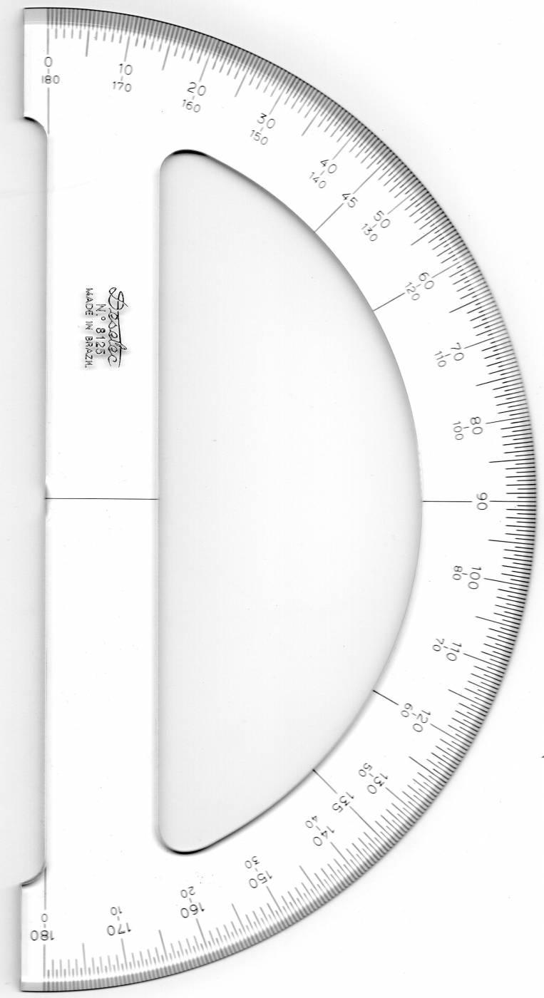 Transferidor de Acrílico Trident 180°/26 cm 8125