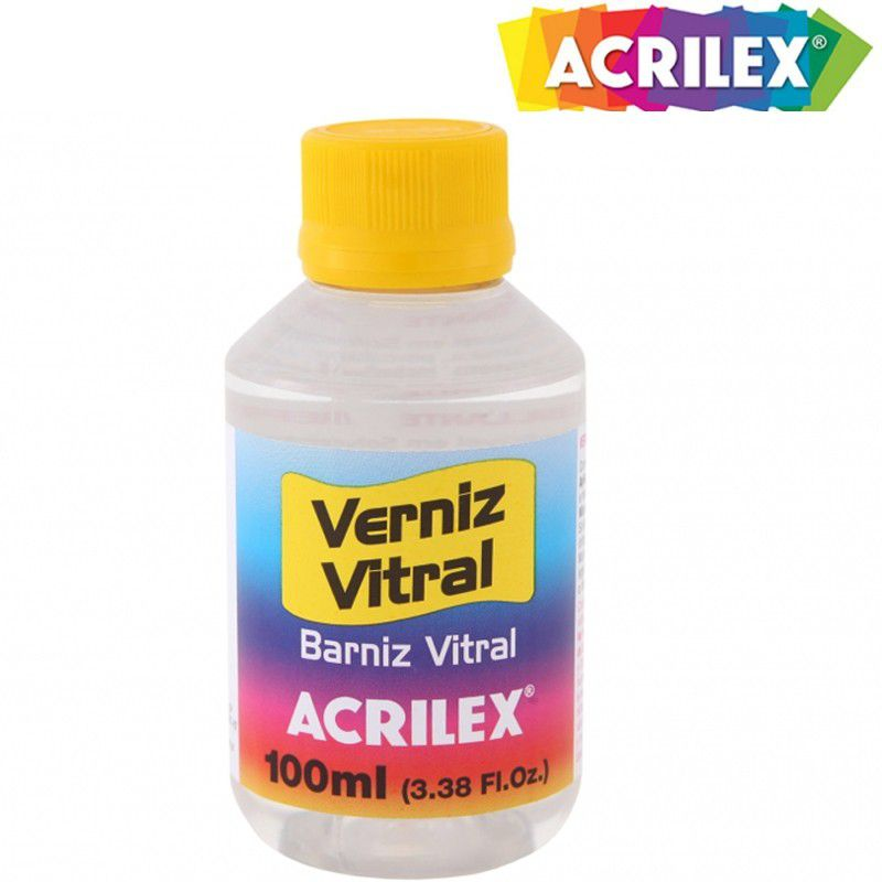 Verniz Vitral Incolor Acrilex 100ml 08110