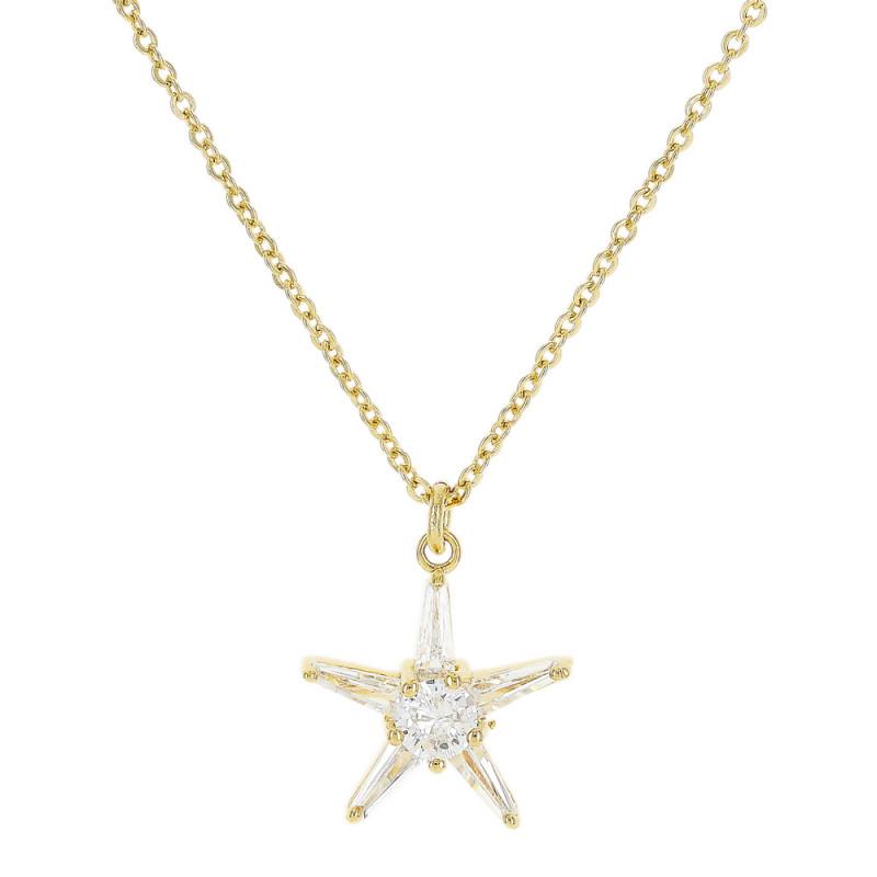 Colar de zircônia em forma de estrela.
