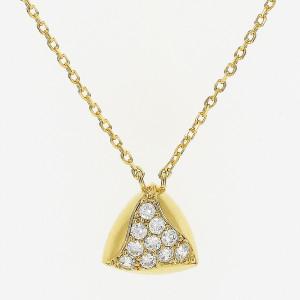 Colar triangulo zirconia