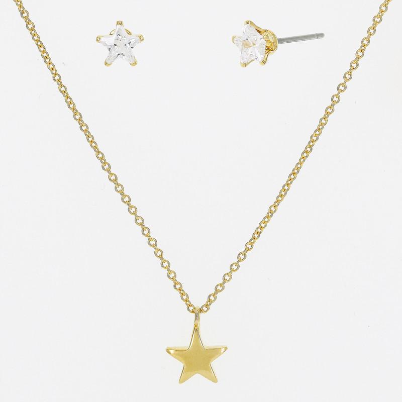 Conjunto estrela lisa/zirconia