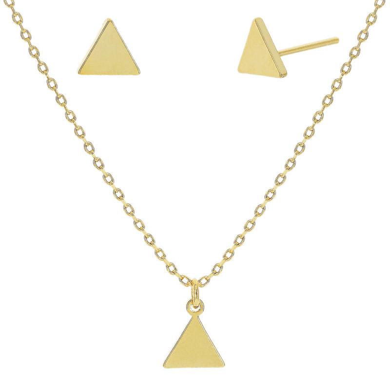 Conjunto pingente em forma geométrica liso