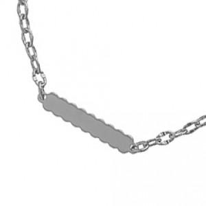 Pulseira de Elos com Detalhe de Metal Chato Regulavel.