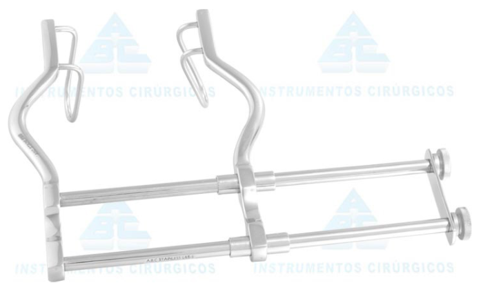 Afastador Gosset 12cm Abdominal com Duplo Barramento - ABC INSTRUMENTO