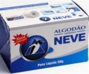 Algodão Hidrófilo para higienização, anti-sepsia Fardo com 50 Unidades cada Cx 50g .Nv
