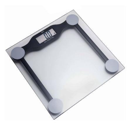 Balança digital pessoal com plataforma de vidro 150kgx100g. Plenna