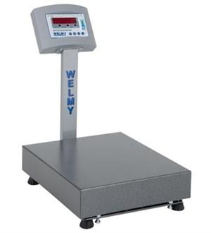 Balança Eletrônica de bancada plataforma 40x 40 cm, capacidade 100Kg, precisão de 20g WELMY BALANÇAS