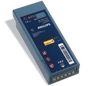 Bateria de lítio descartável para Desfibrilador DEA modelo Heartstart FR2 ou FR M3863A. Philips