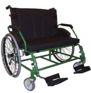 Cadeira de Rodas Cap. 250 kg para obesos reforçada Super Big. Baxmann