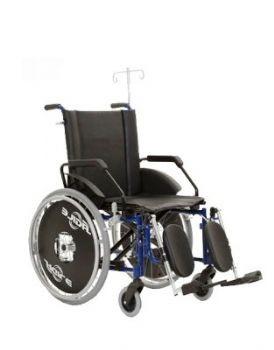 Cadeira de Rodas em Alumínio Ágile Hospitalar 50cm - Cadeiras Jaguaribe.