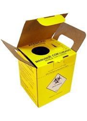 Caixa para Material Perfuro cortante Volume 3 Litros, Pacote com 10 Unidade.Diversas