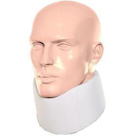 Colar Cervical De Espuma Com Reforço Interno Branco.Salvapé.