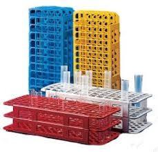 Estante para 40,60 ou 90 tubos de ensaio cada um com medidas diferente .Lt
