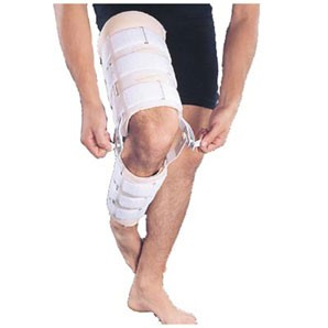 Imobilizador de joelho com (trava).Salvapé