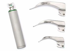 Laringoscópio Fibra Ótica Adulto, 4 Lâminas Aço Inox Retas ou Curvas - Mkt
