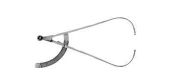 Pelvimetro de MARTIN 35cm, Aberto 50cm para Microcirurgia - ABC INSTRUMENTOS