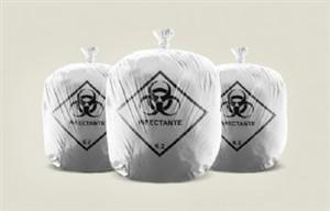 Sacos para lixo hospitalar infectante Cap. 30 litros pacote com 100 unidades.az