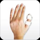 Tala (Cristal) para dedos.Salvapé