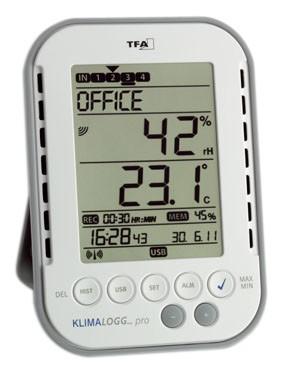 Termo-higrômetro com Data Logger, Máxima e Mínima com horário e data 0ºC...+50ºC. Icon