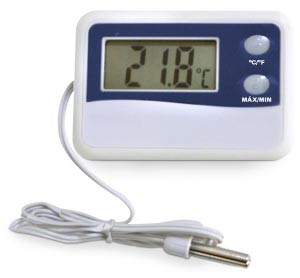 Termômetro Digital para Máxima e Mínima -50+70ºC, é à Prova d'água.Icon
