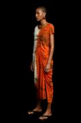 Vestido Drapeado Rejila