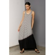 Vestido Regata Longo Stripes Rejila