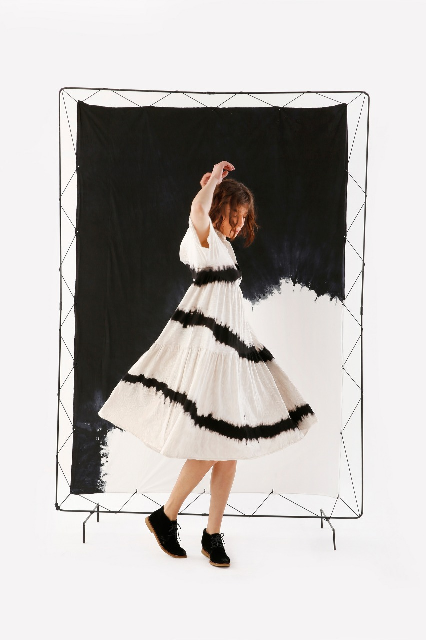 Vestido Aura Malha Revoada