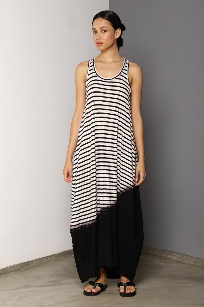 Vestido Regata Longo Stripes Rejila