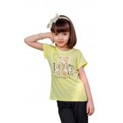 Camiseta Infantil Juvenil Menina Manga Curta Love Mazal