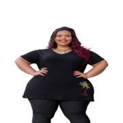 Blusa Feminina Coqueiro Tamanho Especial Plus Size Mazal