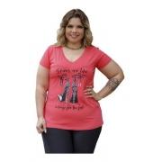 Blusa Feminina Especial G7 Básica Sandália Plus Size Mazal