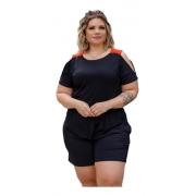Blusa Feminina Especial G7 Ombro Vazado Plus Size Mazal