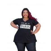 Blusa Feminina Manga Curta Paris Plus Size Mazal