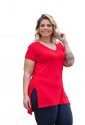 Blusa Feminina Mullet Com Abertura Lateral Plus Size Mazal