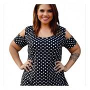 Blusa Feminina Ombro Vazado Plus Size Mazal