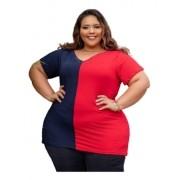 Blusa Feminina Tamanho Especial 2 Cores Plus Size Mazal