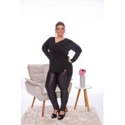 Blusa Feminina Transpassada Com Amarração Plus Size Mazal