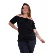 Blusinha Ciganinha Ombro A Ombro Plus Size Mazal