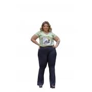 Calça Feminina Flare Suplex Plus Size Mazal