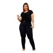 Calça Feminina Legging Neopreme Básica Plus Size Mazal